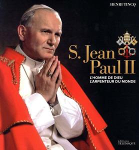 BEAU LIVRE SOUS COFFRET - S. JEAN PAUL II, L'HOMME DE DIEU / TELEMAQUE, NEUF