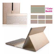 Folio Leder Case Smart Tasche Hülle beleuchtet Bluetooth Tastatur Für iPad Air