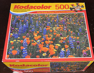NEW SEALED Kodacolor California Poppies 500 Piece Jigsaw Puzzle Orange Flowers