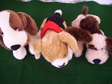 THREE (3) SMALL PUPPY DOGS1- BAB-1-RUSS BERRIE-1-GOLDEN BEAR ALL GREAT CONDITION