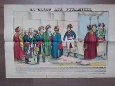 GRANDE IMAGE EPINAL 1880 NAPOLEON AUX PYRAMIDES 1798