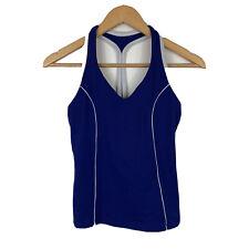 Lorna Jane Womens Top Size Small Blue Sleeveless Activewear Running Top