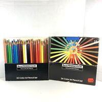 Vintage Berol Prismacolor Set of 24 Colored Pencils Thick Lead Art Pencil Set