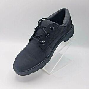 Timberland Ortholite Boys 5.5 Black Shoes. Deep Indentation Rubber Lug Soles.