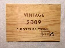 1 Rare Wine Wood Panel Vintage 2009 6 Bottles Crate Box Side 8/18 324 🍷🍇