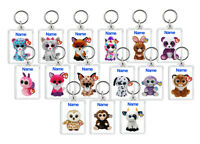 Personalised Custom TY Beanie Boo Keyring Bag Tags - Kids Cute - New Gift
