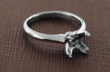 Steven Kirsch platinum ring setting for 1.5ct stone, sz 5.5