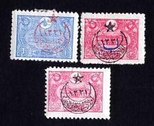 Turkey 1916 set of stamps Mi#375-76,378 MH