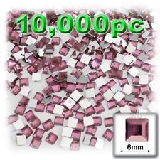 The Crafts Outlet 10000-Piece Square Rhinestones, 6mm, Purple - H15 170