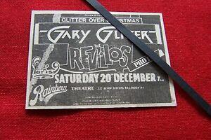 GARY GLITTER  ORIGINAL 1980 VINTAGE GIG CONCERT ADVERT RAINBOW THEATRE LONDON