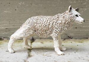 RARE 2003 Papo Arctic Wolf Animal Figure