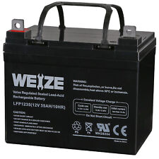 Weize 12V 35AH Rechargeable AGM Deep Cycle Battery for RENOGY PV RV Solor Panel
