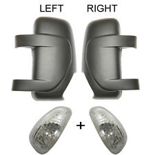 Renault Master 10 - > a partir Mk3 left&right Lado Espejo Retrovisor cover&indicator Negro