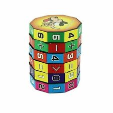 6 Layers Intelligent Puzzle Play Cube Number & Sign Children Fun Education Baby