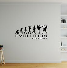 Evolution Kickboxing Wall Sticker - Decal Vinyl Boys Bedroom Sport Funny Quote