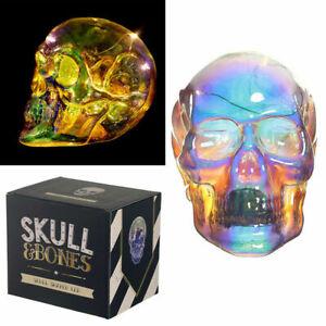 Decorative LED Light Metallic Iridescent Skull Battery Night Lamp Ornament NEW