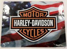 Grande Plaque En Métal Publicité Vintage Motor Cycles Harley Davidson