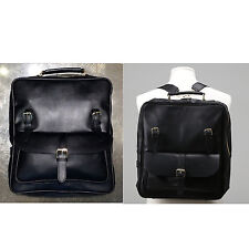 Korea New Men Women Rusi Backpack School Travel Business Bag Faux Leather Black