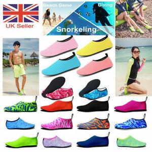 Unisex Aqua Shoes Mens Womens Kids Water Socks Slip On Sea Wet Beach Swim Surf 6
