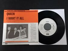 "7"" Vinyl single Queen I want it all (Japan) Promo"