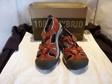 NEW WOMENS HYBRIDLIFE KEEN DK RED SANDLE HIKING SHOE SIZE US 8.5