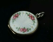 David Andersen Antique Vintage Norwegian Sterling Silver and Enamel Locket