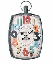 Industrie Wanduhr Vintage Port Uhr Retro Fabrikuhr Antik GROSSUHR LOFT 83x49cm