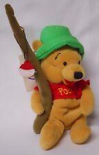 The Disney Store Fishing Winnie the Pooh Bean Bag-Beanie