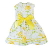 Yellow Flowers Dog Dress Little Dog Clothes Small Dog Teacup Sz M S XS XXS XXXS