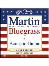 Martin M240 80/20 Bronze Round Wound Bluegrass Acoustic Guitar Strings 12 - 56
