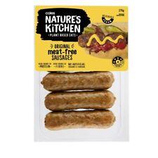 Coles Nature's Kitchen Original Meat Free Sausages 270g