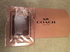 BNWT New Coach Mobile Phone Card Pocket Holder Sticker - Brown Leather