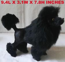 Realistic Black Poodle Dog Pet Plush, Simulation Stuffed Animal Decor Doll Toy