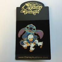 Disney Auctions P.I.N.S. - Stitch & Donald Duck Doll - LE 500 Disney Pin 37215