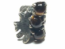HUGE Men's Sterling Silver Tiger's Eye TAXCO Ring - Size 8.5 - MEXICO - MATEO