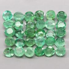 Transparent 2.57ct. 2.5mm. 30pcs. Round 100%natural Top Rich Green Emerald Lot