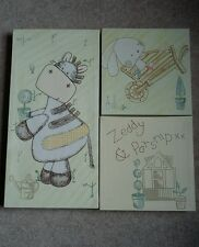 ZEDDY AND PARSNIP CANVAS WALL ART PLAQUES/PICTURES