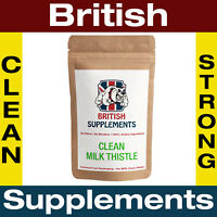 Clean Milk Thistle Extract 8,775mg (280mg Silymarin) Capsules 1 Month Supply UK