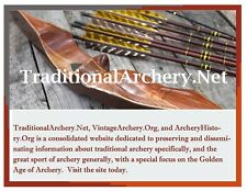 Online Ad Traditional/Vintage Archery Site; Bear, Pearson, Wing, Shakespeare