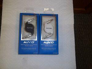 "AUVIO  4200992 / 4200991  3-FT (3.5mm)1/8"" RETRACTABLE STEREO CABLES WHT / BLACK"