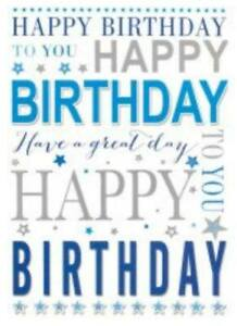 Open Male Birthday Card~ Wishing You a Happy Birthday By Greetings ~ Free P&P