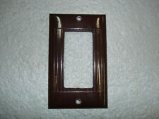 Vintage Uniline Brown Decora GFCI Switch Outlet Cover Plate Sierra Ribbed
