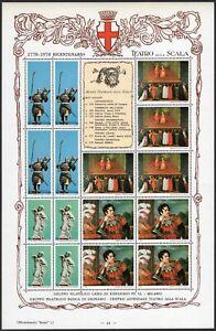 Erinnofilia - 121 chiudilettera Bicentenario Teatro alla Scala di Milano, 1978