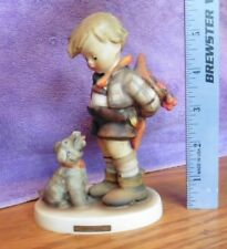 1955 Goebel Hummel Figurine Not for you  Germany 317 Boy hiding flowers from dog