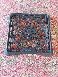 Le Creuset Square Black Cast Iron Trivet/Pot Stand