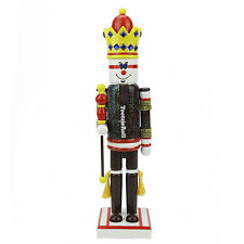 """F97167 14"""" Tootsie Roll Candy King Nutcracker Christmas Decoration Brown White"""