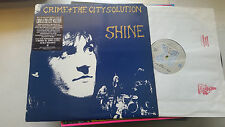 CRIME + THE CITY SOLUTION Shine LP Vinyl 1988 birthday party bad seeds daf mute!