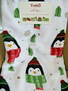 "New Christmas Winter ""Blizzard the Penguin"" Plush Decorative Throw--50"" X 70"""