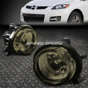 FOR 04-16 Mazda MPV RX8 MX5 CX7 SMOKED LENS FRONT BUMPER DRIVING FOG LIGHT LAMP