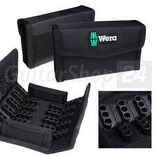 """WERA BitBox / Tasche / Leerbox für 60x 25mm 1/4"""" Biteinsätze m. Klettbefestigung"""